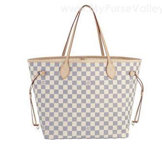 fa0d9c783491 Louis Vuitton Damier Azur Canvas Neverfull MM Pursevalley Reviews ...