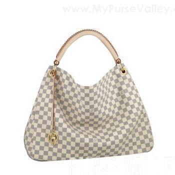 93fe40e2a020 Louis Vuitton Damier Azur Canvas Artsy GM N41173 Capture the spirit of  bohemian chic with the generous Artsy GM. In supple and refreshing Damier  Azur canvas ...